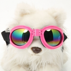 Fashionable Decorative Practical Resin Dog Sunglasses pink one