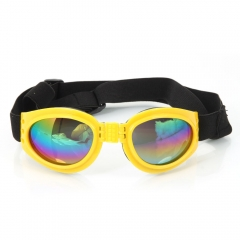 Fashionable Decorative Practical Resin Dog Sunglasses yellow one