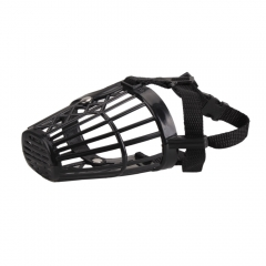 Nylon Basket Cage Adjustable Pet Dog Muzzle Size-1 2 3 4 5 6 7 black #4