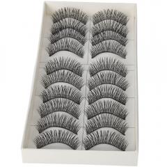 50Pairs Natural Thick Long False Eyelashes Fake Eye Lashes Voluminous Makeup Set black