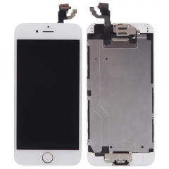 White Front LCD Touch Screen Complete Assembly Home Button Camera for iPhone 6 white iphone 6