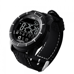 UU Waterproof Bluetooth Smart Watch Sport Tracker Watch for Android IOS Black black one