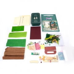 Dollhouse Forest Rhapsody Vol 1 Miniature Theater DIY Kits Box with LED Light as picture one size