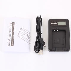 EN-EL12 Camera Battery Charger with Screen for Nikon S9700 S620 S630 black one size