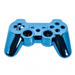 Plastic Cover Shell Case for Playstati 3 PS3 Controller Blue + Buttons Kit blue