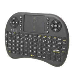 Mini 2.4 GHz RF Wireless Keyboard Touchpad Mouse for Android TV Box Tablet PC black