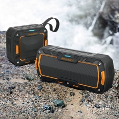 Waterproof Wireless Bluetooth Speaker Stereo for Android IOS System Phones orange no one