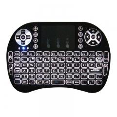 Mini Backlit 2.4GHz Wireless Keyboard Remote Control Touchpad Black + Manual black mini