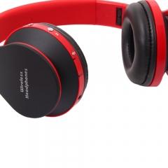 Wireless Stereo Bluetooth Headphone Headset Sport Earphone For Huawei Xiaomi black & red