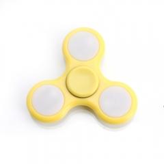 LED Flashlight Plastic Reduce Stress Hand Spinner Gadget Finger Spinner yellow