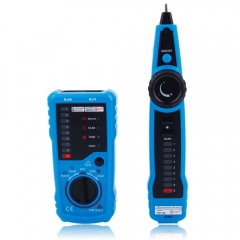Bside FWT11 RJ11 RJ45 Cable Telephone Network Wire Line Tracker Tester Finder blue & black one