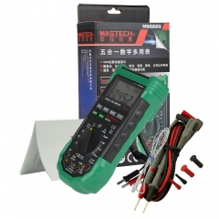 Mastech MS8229 Auto-Range 5-in-1 Digital Multimeter with DMM Lux Humidity Tool as picture one