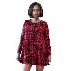 Cherry Couture red and black animal print  mini dress