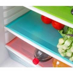 "Anti-fouling refrigerator mat waterproof mildew damp wash kitchen non-slip BLUE 45*29cm/17.72""*11.42"