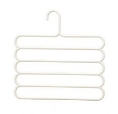 Pants Hangers Holders For Trousers Towels Clothes Apparel Hangers Five-layer Space Saving -Version 2 white
