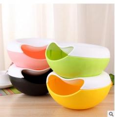 Plastic tray keguazi lazy artifact detachable double disc round fruit melon fruit candy box box pink