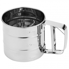 2016 new Stainless Steel Flour Sieve Cup Design Shaker DIY Manual Baking Tool as the picture