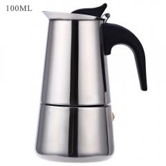 Household 2 Cups 100ML Stainless Steel Mocha Espresso Latte Percolator Coffee Maker Pot