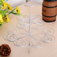 New Arrival Detachable 3 Layers Iron Cake Stand 13 Cupcake Holder Cup Tray Table Decoration as the picture