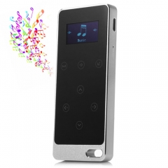 RUIZU X05 8G Digital MP3 Player Touch Screen Music Player Pedometer FM Stereo Radio Support FM Ratio silver