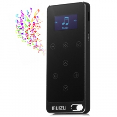 RUIZU X05 8G Digital MP3 Player Touch Screen Music Player Pedometer FM Stereo Radio Support FM Ratio black