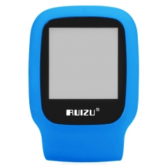 RUIZU X09 FM Radio 1.5 Inch TFT LCD Screen TF Card Sport MP3 Player Build in Speaker with E-Book blue
