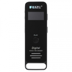 RUIZU X01 1.0 Inch TFT LCD Screen 8GB TF Card Sport Lossless MP3 Music Player Built-in Speaker black