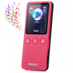 RUIZU X08 8GB 200 Hours Digital MP3 Player Music Vedio Player Supporting TF Card FM Stereo Radio red