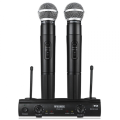Genuine WEISRE PGX58 Omni-directional Wireless Microphone System Dual Handheld 2 x Mic black one size none