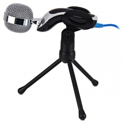 SF-922B USB 2.0 Portable Condenser Microphone Mic Studio Audio Sound With Desktop Stand Microfone black one size none