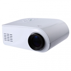 Portable Plastic Full HD 1080P Video 80 Lumen Portable X6 Mini LED HDMI/AV/VGA/SD/USB Beamer white one size