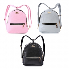 Guapabien PU Leather Zipper Closure Small Backpack Shoulder Bag black one size