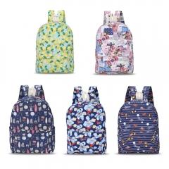 Guapabien Canvas Teens Print Backpack Traveling School Bag pink one size