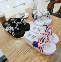 The Beautiful Slippers With Cute Bear SWISSANT® white with blue us7