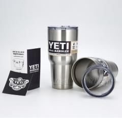 Yeti Rambler Tumbler Stainless Steel Bottle with Lid, Original steel,30oz