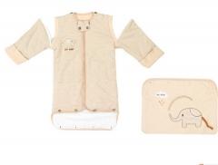 Baby sack SWISSANT® Baby nest Sleep bag 100% Organic Cotton, 4 season, Khaki,6 mnths - 3yrs Khaki as picture 110cm