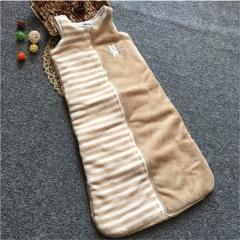 Baby sack SWISSANT® Baby nest Sleep bag Vest,Coral velvet, 4 season, Khaki,6 mnths khaki M
