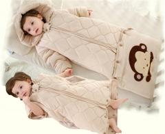 Baby sack SWISSANT® Baby nest Sleep bag Pure Organic Cotton, 4 season, Khaki,6 mnths khaki 100CM