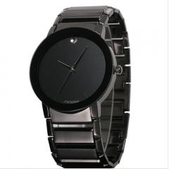 SINOBI Top Brand Luxury Diamond Quartz-Watch Women Watches Full Steel Watch black