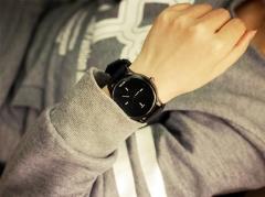 High quality Miler watch fashion soft silicone strap ladies lover jelly quartz watch black