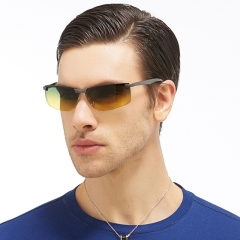 Men Polarized  Night Vision and Day's Sunglasses FSKA106 Yellow Lense One Size