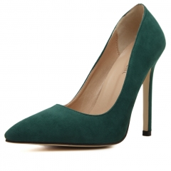 Woman Pointed Toe High Heels pumps Women office shoes green 35
