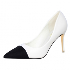 2017 new style fashion Woman Pointed Toe High Heels pumps office shoes white 34
