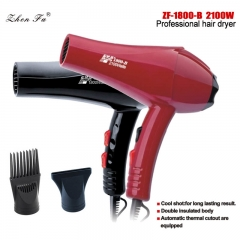 Red Color Hair Dryer of 2100W High Quality Fashion Design Wig Tools Blow Dryer ZF-1800-B Red As Picture