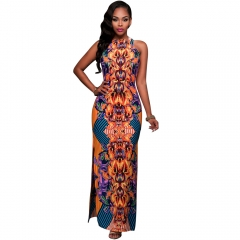 Spring Autunm Fashion Women Long Sleeve Casual Dresses Black S Orange S