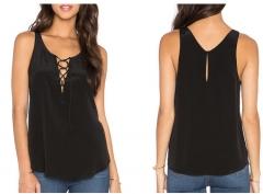 2017 new black lace lace vest black S