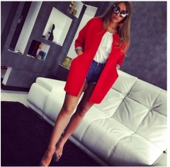 2017 temperament in the long section of autumn coat red S