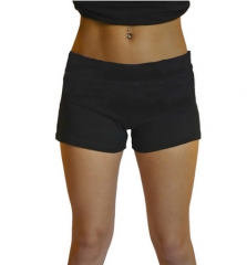 2017 sports yoga shorts simple single-color running pants black free size