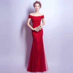 2017 New Year's new fashion fancy red wedding dress beautiful bride wedding dress red s