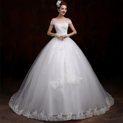 Wedding dress 2016 new Korean word shoulder poncho skirt large size was thin white qi s